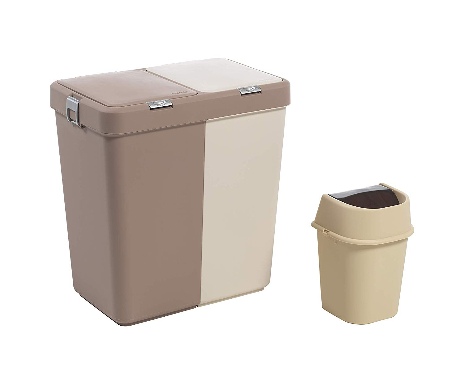 Mabel Home Plastic Laundry Hamper With Lid 2 Sections