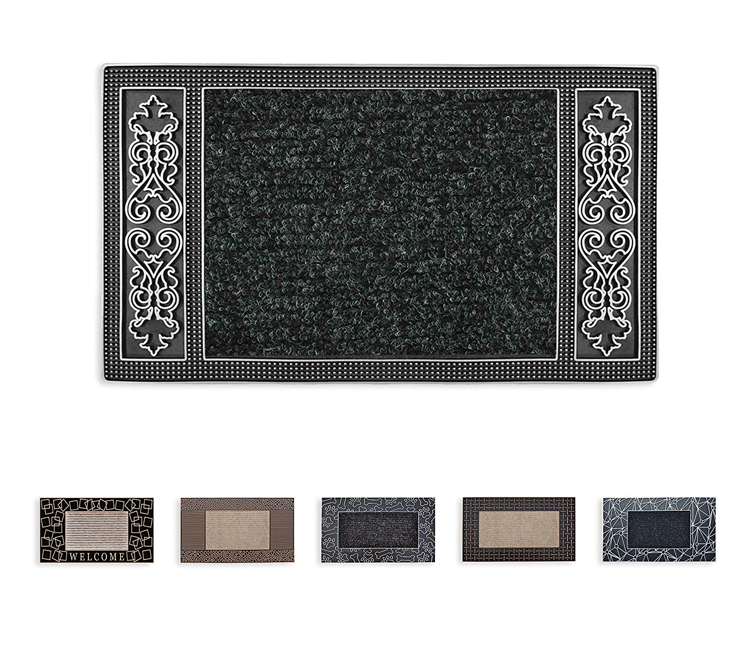 Mabel Home Durable Pvc Rug Doormat 18 X28 Outdoor
