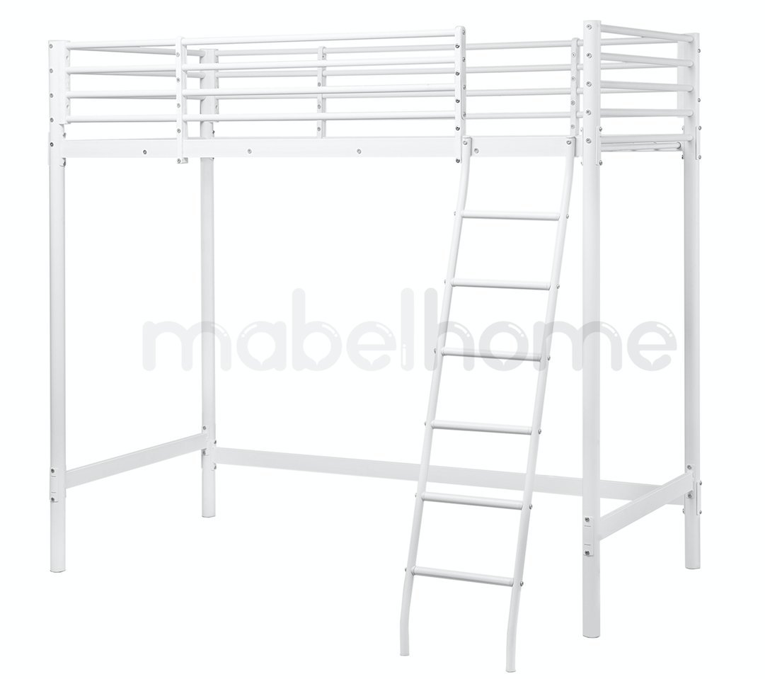 Mabel Home Metal Frame Loft Bed White Twin Size